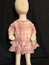 Babygap baby girl's ruffle plaid dress 0-3 Months