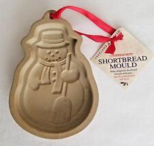 Clay Cookie Mold Stoneware Lakeland Shortbread Snowman    A2