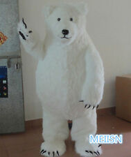High quality White bear cartoon mascot costume dolls Halloween party adult size