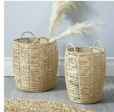 Very Set Of 2 Paper Rope Baskets Natural