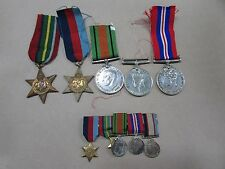 WW2 MEDAL GROUP 8597 M.J.DRAPER RAAF LEADING AIRCRAFTMAN RICHMOND + MINIATURES