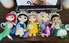 NWT Disney Baby activity Ariel Belle Tiana Rapunzel teether Stroller  Lot Of 5