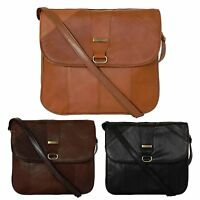 Ladies Womens Real Genuine Leather Shoulder bags Cross Body Bag Black Brown Tan