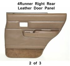 Toyota 4Runner Surf Right Rear TAN LEATHER DOOR PANEL w/ Arm Rest/Handle 90-95