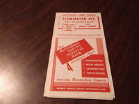 OCTOBER 1958 LEHIGH VALLEY FLEMINGTON JCT. SOUTH PLAINFIELD, NJ PUBLIC TIMETABLE