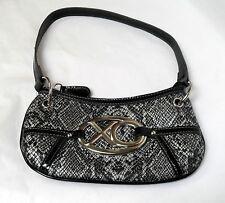 XOXO Faux Snakeskin Black & White Small Handbag, NWOT