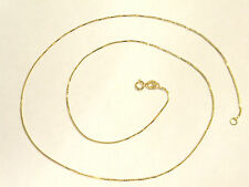 "10K BOX CHAIN 18"" inch - .7mm Wide - 1.2 GRAMS - SOLID YELLOW GOLD - NEW"