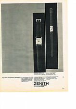 PUBLICITE ADVERTISING   1961   ZENITH   collection montre