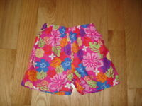 Girls L.L. BEAN Floral Shorts ~ Pull On Elastic Waist Size 8