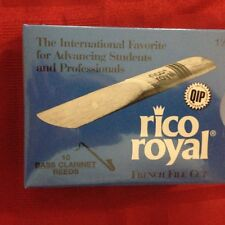 One Box of 10 RICO ROYAL BASS CLARINET REEDS #1.5 (1 1/2) FRENCH FILE CUT