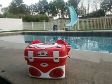 Electro Brand Eb Cool Box Cooler with Cd Player Am/Fm Radio Red Lunch Box