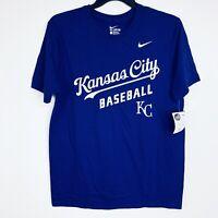 Nike Kansas City Baseball Royal Blue T-shirt. Size Large. NWT.