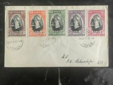 1944 Tonga Toga Cover Complete Set Of Stamps