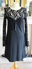 Love Moschino black lace and jersey dress size 12
