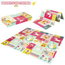 Baby Krabbeldecke Spielmatte faltbar Babymatte doppelseitig  Spielteppich