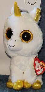 TY BEANIE BOO - Pegasus - Unicorn Gold - 18cm tall - various available