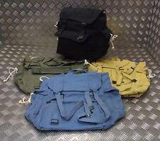 Military Style Vintage Canvas Web Rucksack Back Pack Festival   Asst Colours