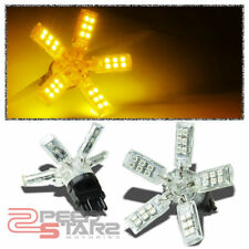 X2 40 3528 SMD 3157 BRIGHT AMBER LED SPIDER 5 SPOKES/ARMS TAIL/BRAKE LIGHT BULB