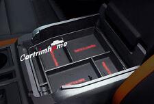 Black Interior Armrest Storage Box Holder For Ford F150 F-150 2015 2016 2017