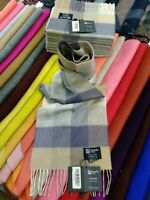 100% Cashmere Scarf | Johnstons of Elgin | Block Check | Made in Scotland