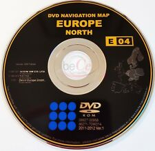 TOYOTA LEXUS Navigazione DVD ORIGINALE e04 2011-2012 Nord Europa North Europe Map