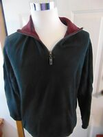 Tommy Bahama Mens Large 1/4 Zip Relax Pullover Black Sweater Marlin  GUC