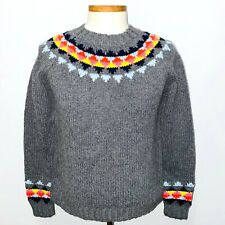 Boden Wool Blend Fair Isle Chunky Knit Crew Neck Pullover Sweater Women LargeNWT
