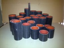 """NEW 23pc LOT of black Flextech 3"""" silicone hose. 3"""" to 9"""" in length - most ~ 6"""""""