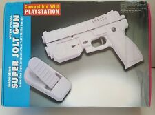 NEW GREEN Guncon Playstation Jolt Light Gun W/ Kickback + Foot Pedal Blow Rumble