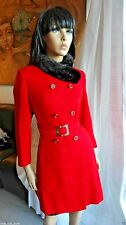TO DIE FOR vintage JM FOR STYLE AND QUALITY red wool and black mink coat S