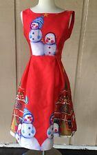 Yibailian Sz Small Dress Red Green Christmas Holiday Winter Sleeveless Fit Flare