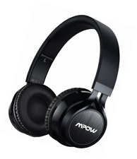 Bluetooth Headphones Wireless Mpow CVC 6.0 and Foldable on The Ear Headset Black