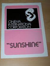 SUNSHINE - Werberatschlag ´74 - CHRISTINA RAINES Cliff De Young