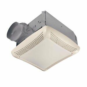 Nutone 763N BROAN Ventilation Fan with Light, Galvanized Steel / 364