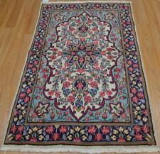 3x4'7 Amazing Vintage Genuine Persian Kerman Hand Knotted Oriental Wool Area Rug