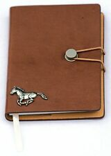 Horse Running Pewter Motif A6 Notebook Pocket Size Notepad Ideal Hunting Gift