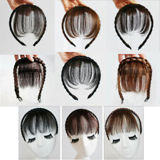 Synthetic Braids Headband Neat Bangs Hair Band Fringes Clip In Hair Extensions
