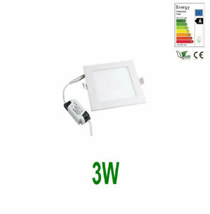 White / Warm White Slim Square Recessed LED Ceiling Ultra Thin Bright Down-Light