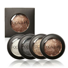 FOCALLURE 10 Colors Baked Eye shadow Palette in Shimmer Metallic Eyes Makeup