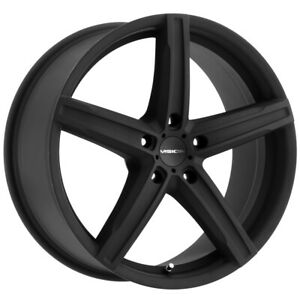 "Vision 469 Boost 15x6.5 4x100 +38mm Satin Black Wheel Rim 15"" Inch"
