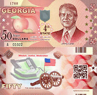 Whitman USA 50 Dollars NEW YORK State #11 Fun-Fantasy Note Statue of Liberty W