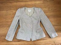Armani Collezioni Womens textured sweatheart neckline Blazer Jacket Size 8 Italy