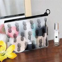 1Pc Pvc Makeup Zipper Pouch Pencil Pen Case  Clear Cosmetic Bag Light HF