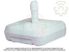 Base Parasol PVC Hose Diameter 32-50mm 60x60cm 60 L Handle Wheels