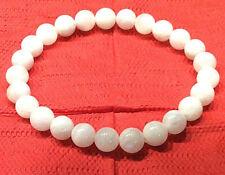 Schönes Armband aus Mondstein in Kugelform Ø-7 mm