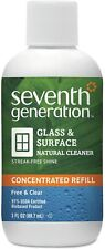 Lot Of 4X Seventh Generation Glass & Surface Natural Cleaner concentrated Refill