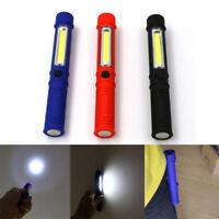 3Colors COB LED Pocket Pen Light Inspection Work Lamp Torch Flashlight Clip