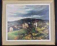 Grande peinture huile sur toile encadrée J.Berthier