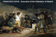 FINE ART  FRIDGE MAGNET - FRANCISCO GOYA - EXECUTION DEFENDERS MADRID
