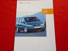 OPEL Zafira A OPC Prospekt von 2002